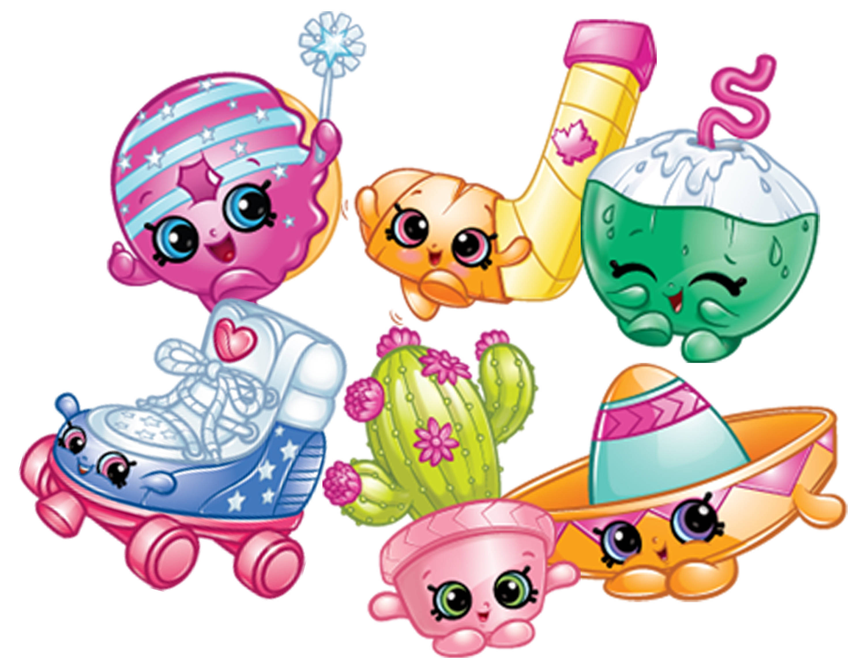 3000x2322 Shopkins Shoppies World Vacation Themed Dolls