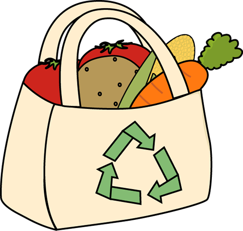 500x475 Clip Art Of Shopping Bags For Grocery Store