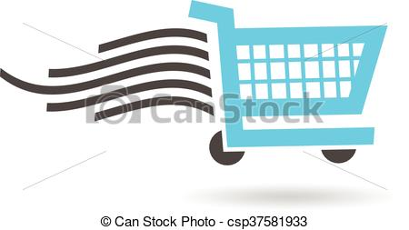 450x253 Fast Shopping Cart Logo. Vector Graphic Design Vectors
