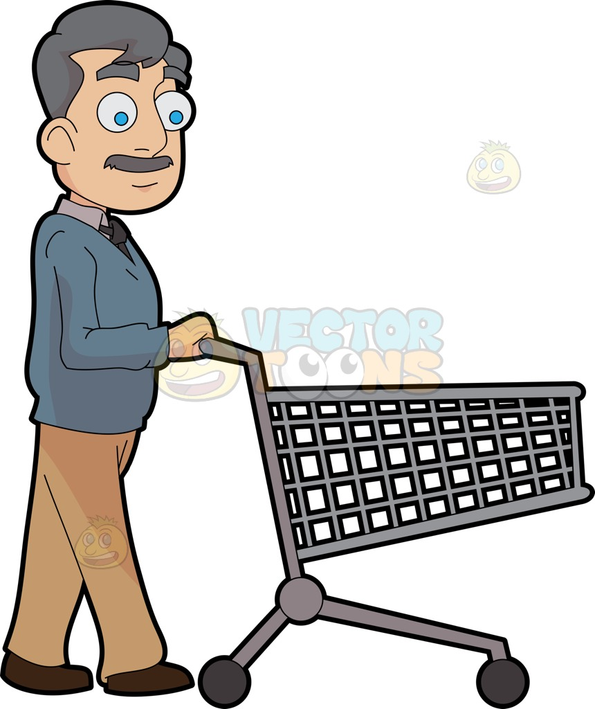 860x1024 Shopping Trolley Clipart Man Amp Shopping Trolley Clip Art Man