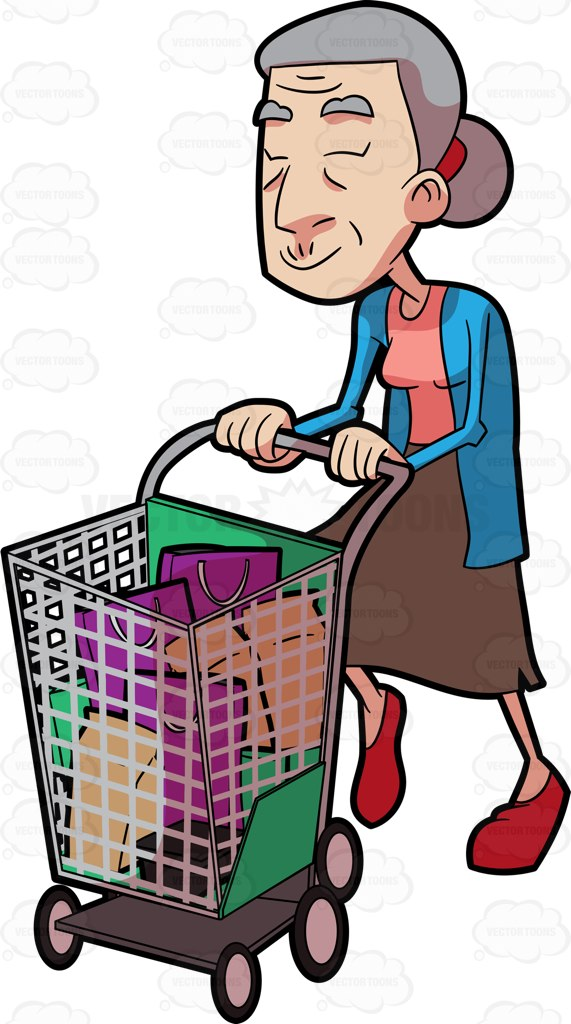 571x1024 Shopping Cart Clipart Vector Toons