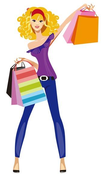 343x584 1 Girl Shopping Clipart Beth Bailey's Avon Blog