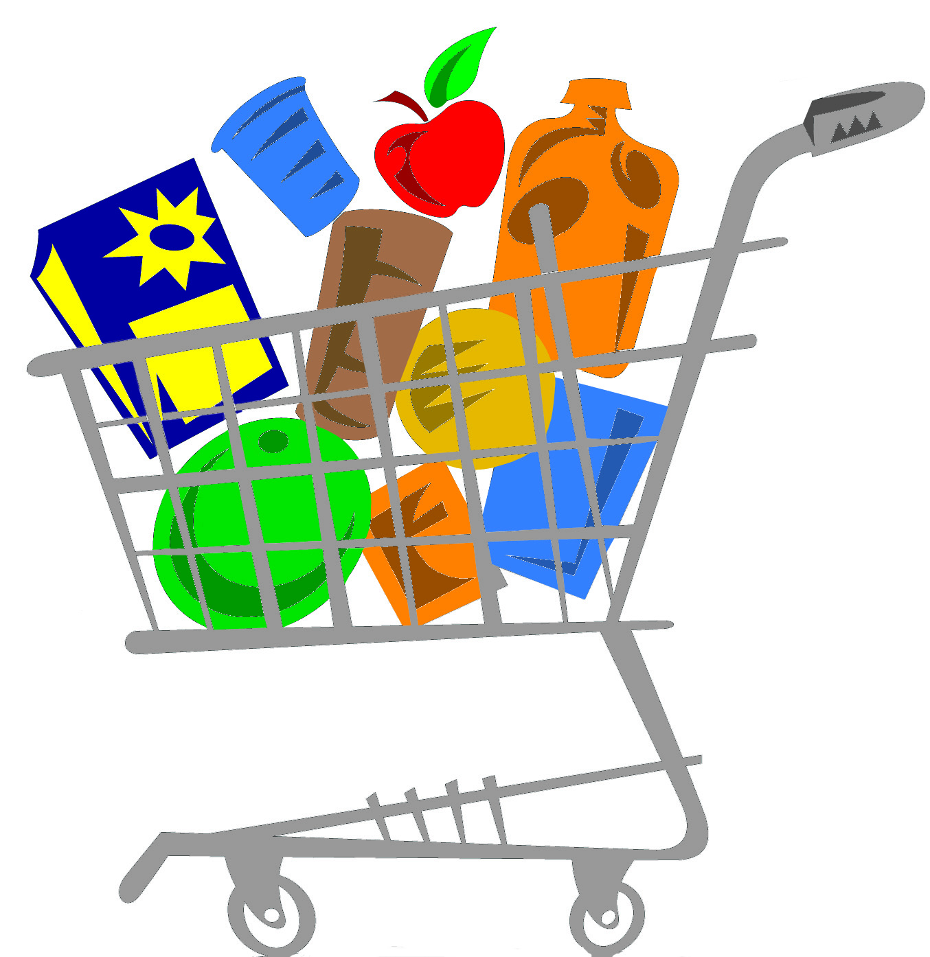 1354x1394 Grocery Cart Clipart Group