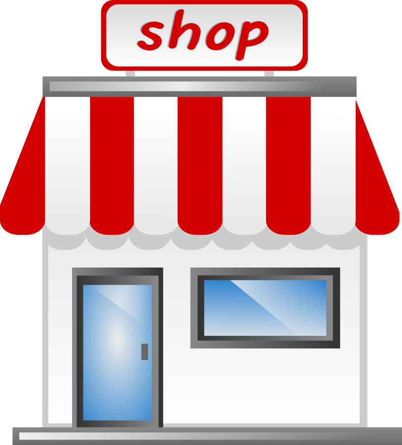 814x900 Image Of Shopping Mall Building Clipart