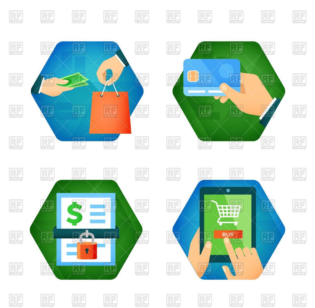 1200x1173 Secure Payment And Online Shopping Icons