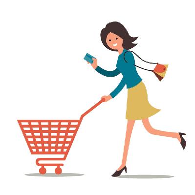 399x399 Shopping Woman Clipart The Arts Image Pbs Learningmedia