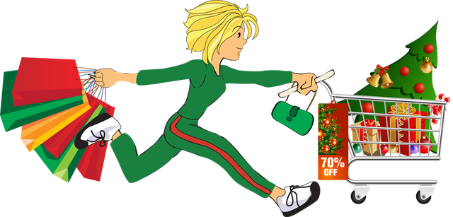640x307 Thanksgiving Clipart Shopping