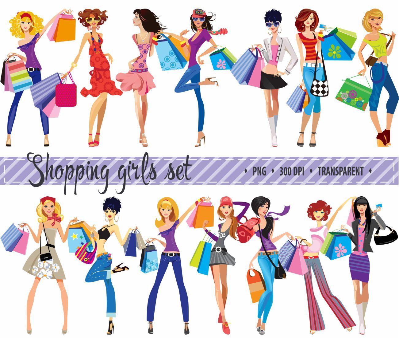 1301x1100 50% Off Sale Fashion Clip Art Shopping Clipart Fashion Girls Clip