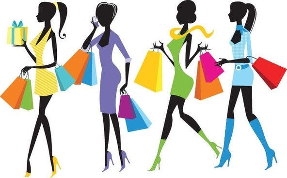 592x368 Shopping Clipart Fashion Shopping Girls Clip Art Free Vector