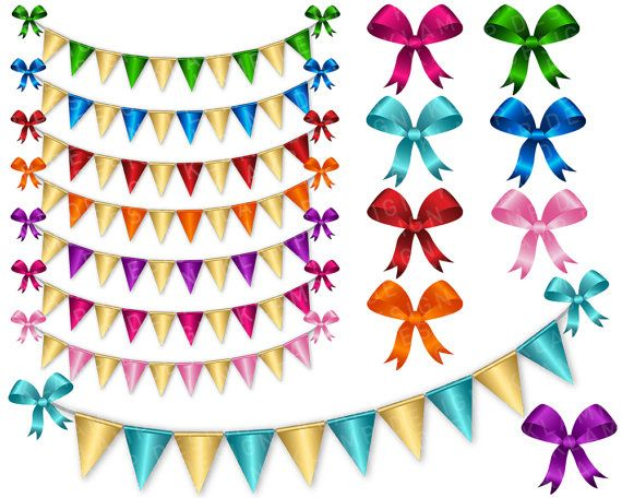 570x456 Digital Bunting Banner Clipart, Digital Bunting Clip Art, Digital