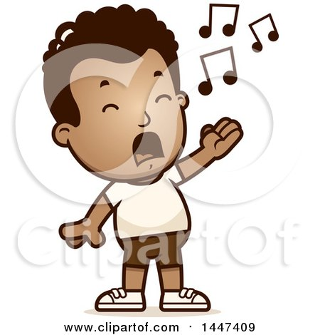 450x470 Clipart Of A Retro African American Boy Walking In Shorts