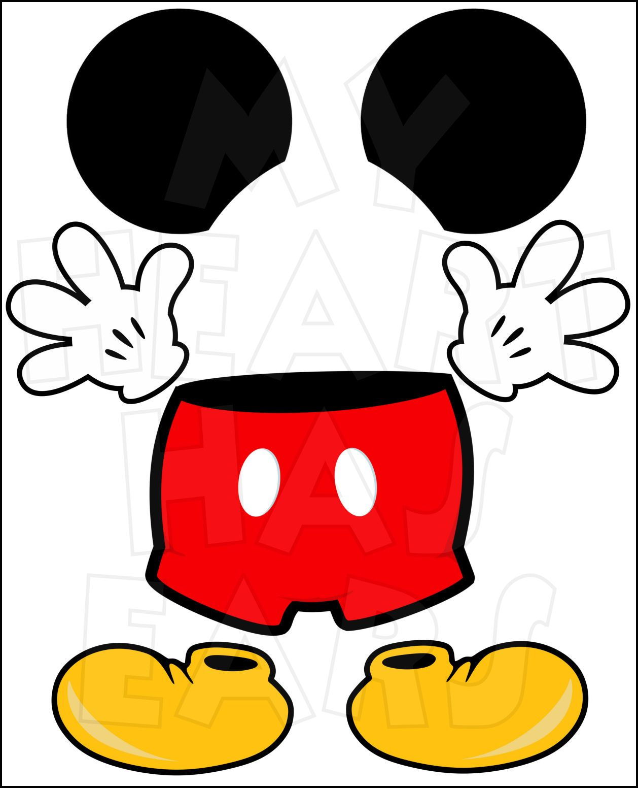 1258x1552 Mickey Mouse Body Parts For State Room Disney Cruise Door Instant