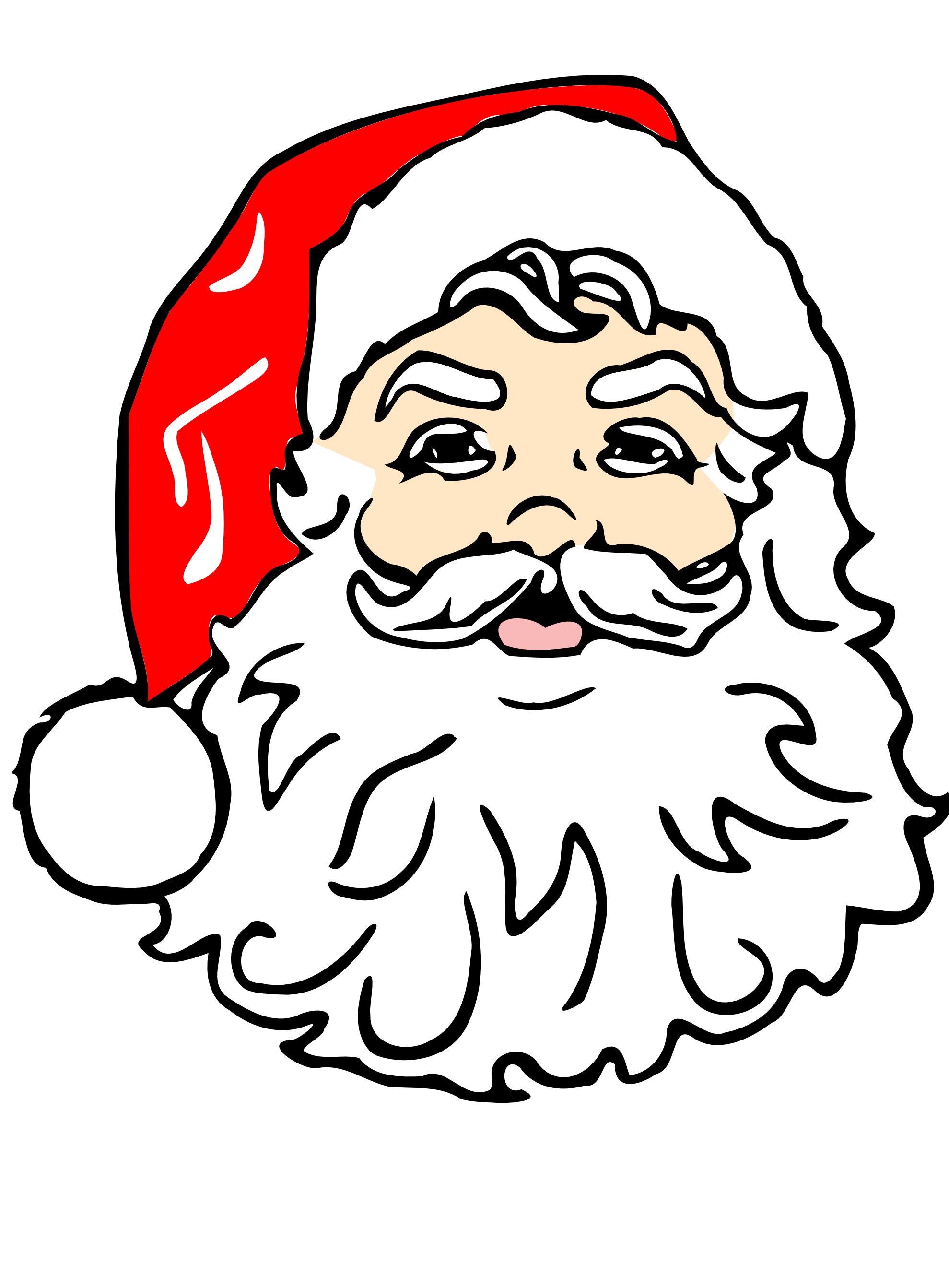 1979x2685 Santa In Shorts Clipart Collection