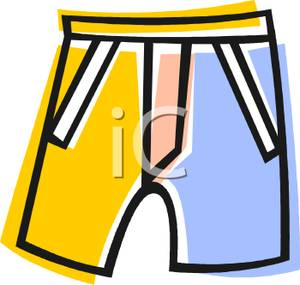 300x285 A Colorful Cartoon Of A Pair Of Boys Shorts