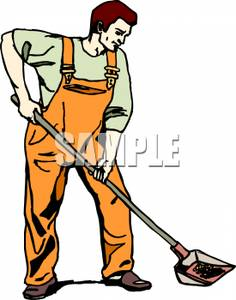 236x300 Man With Shovel Clipart