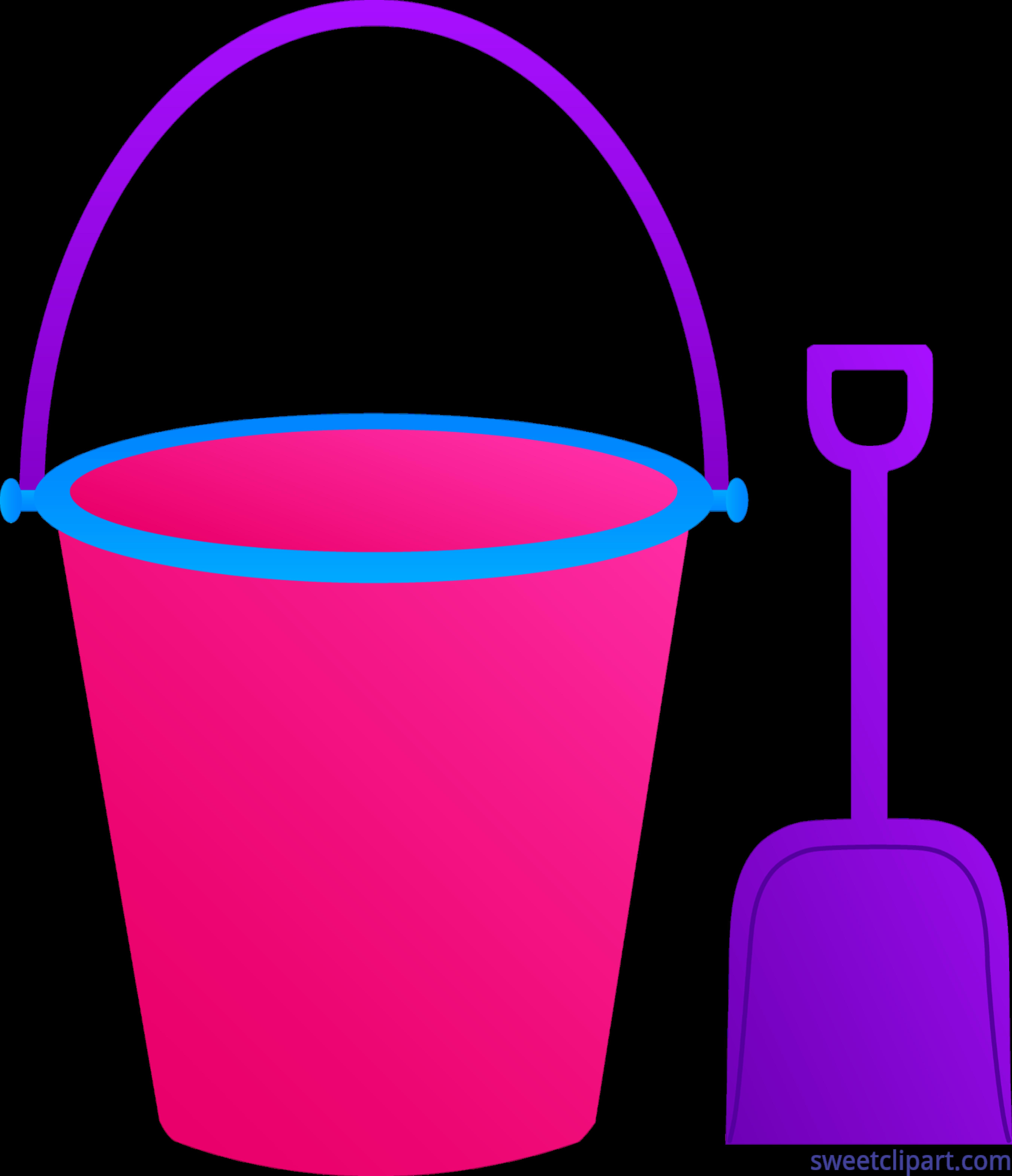5409x6283 Pail Shovel Pink Purple Clip Art