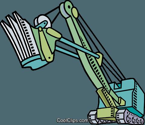 480x414 Steam Shovel Royalty Free Vector Clip Art Illustration Vc010581