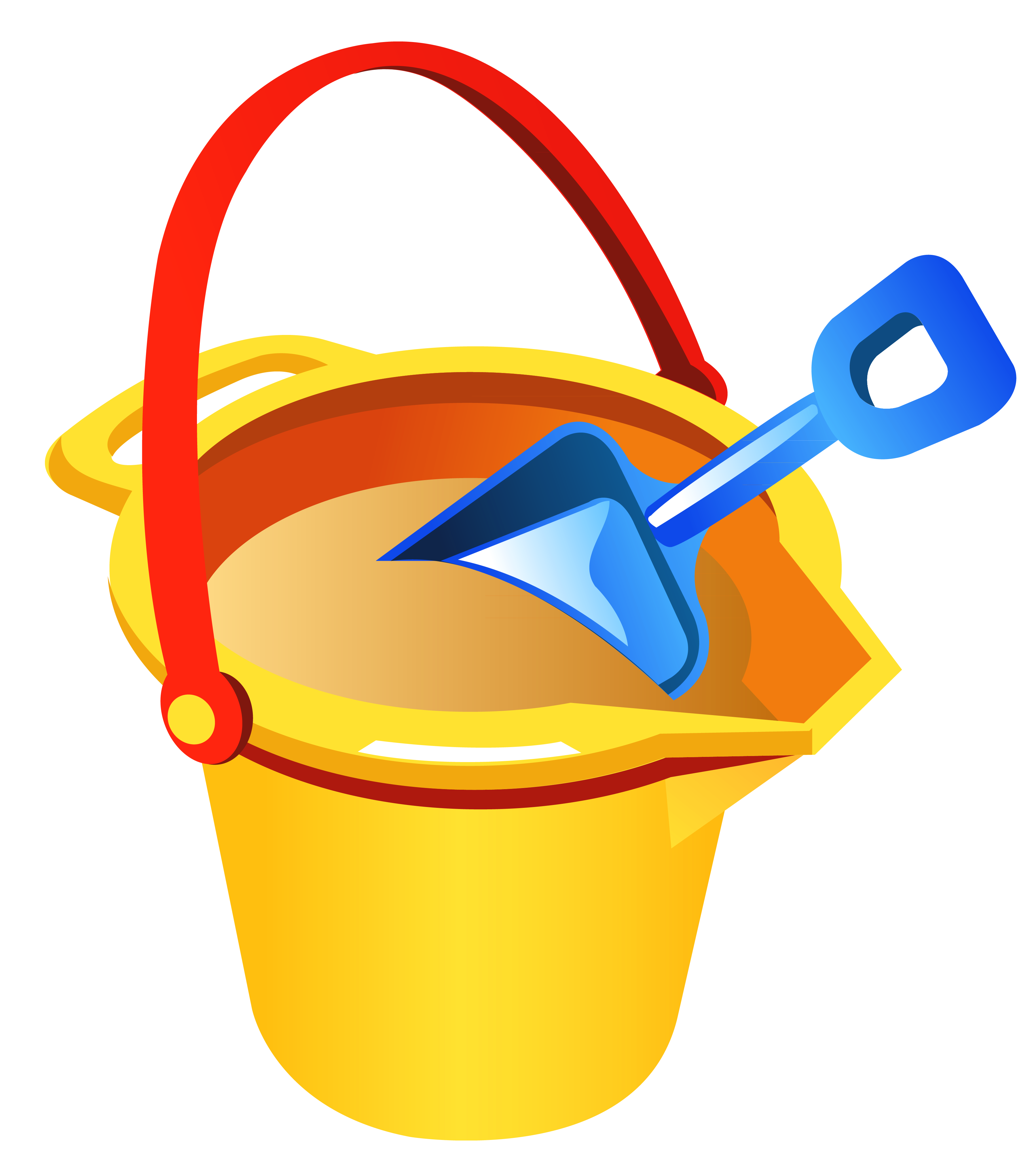 3598x4052 Transparent Beach Bucket And Shovel Png Clipartu200b Gallery