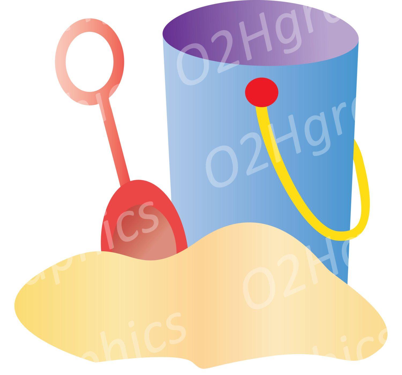 1500x1400 Bucket Clipart, Shovel Clip Art, Sand, Vector Clipart, Digital