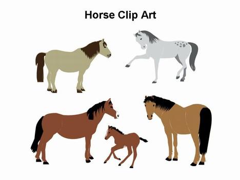 468x351 Horse Clip Art Template