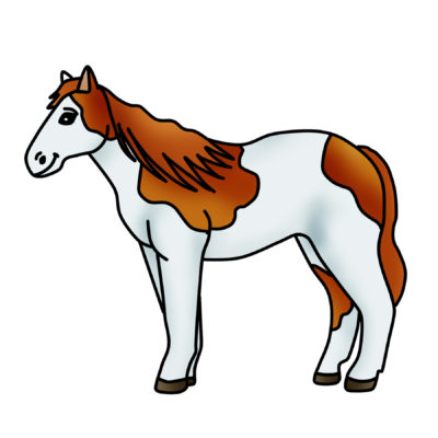 400x400 Spotted Horse Clip Art Archives