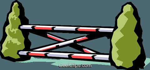 480x227 Horse Jumping Royalty Free Vector Clip Art Illustration Spor0166