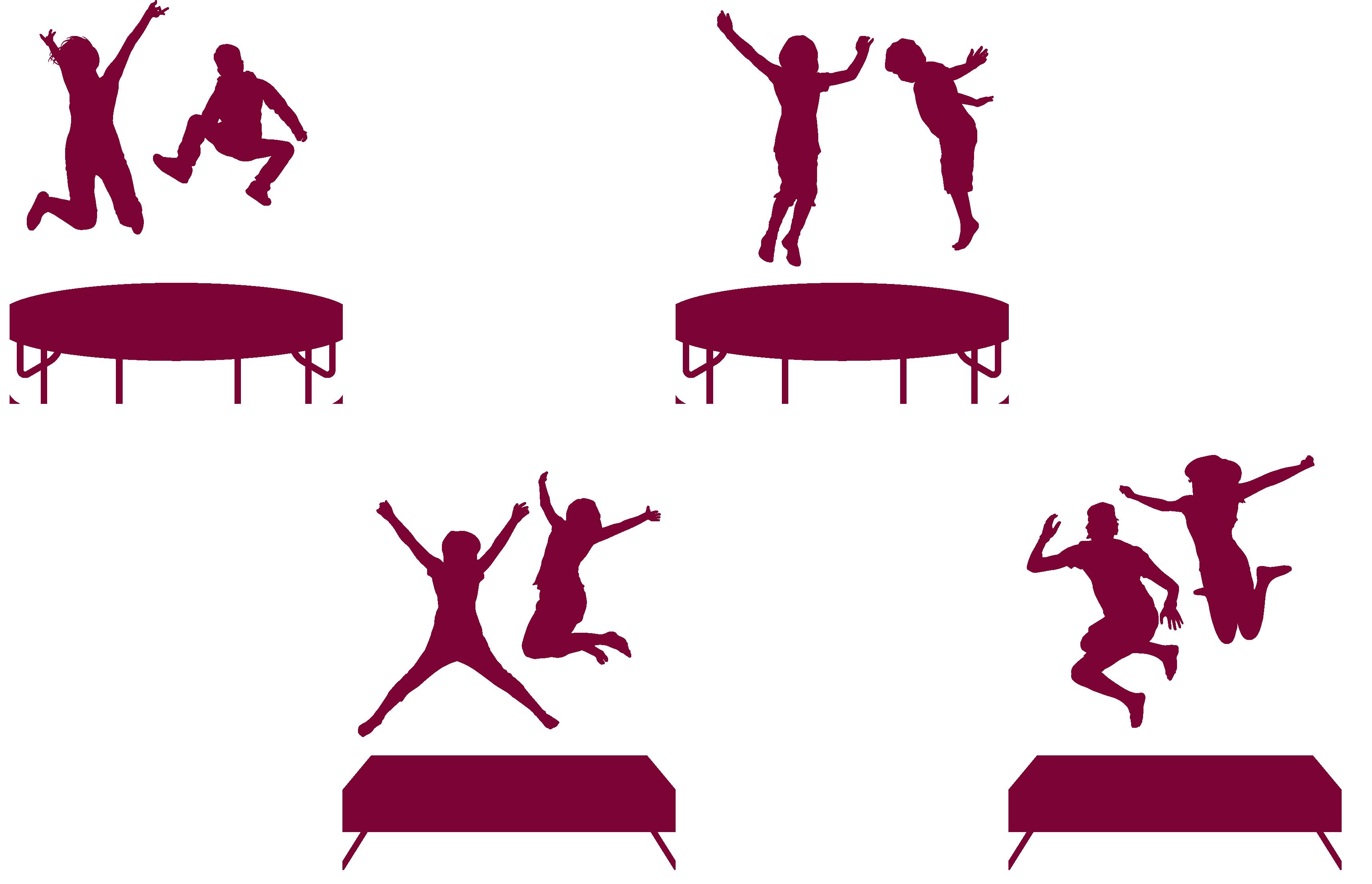 3434x2213 Trampoline Trampolining Jumping Clip Art