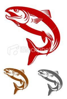 236x347 Vector Clip Art Of Salmon Fish