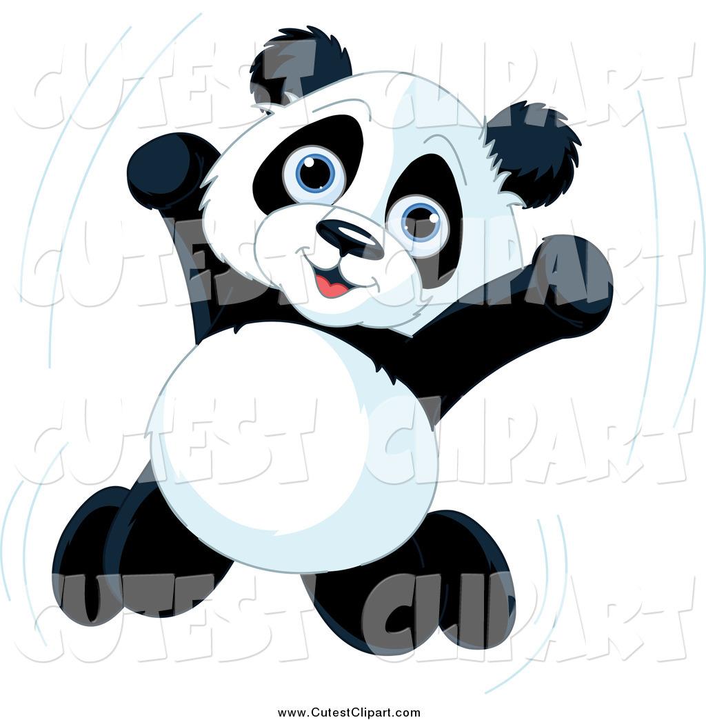 1024x1044 Vector Clip Art Of A Cute Happy Panda Jumping By Pushkin