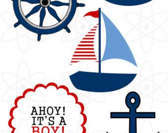 340x270 Nautical Baby Shower Clip Art Baby Shower Nautical