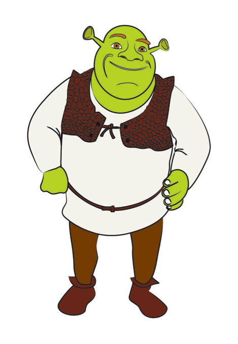 469x677 Draw Shrek Shrek, Craft And Clip Art