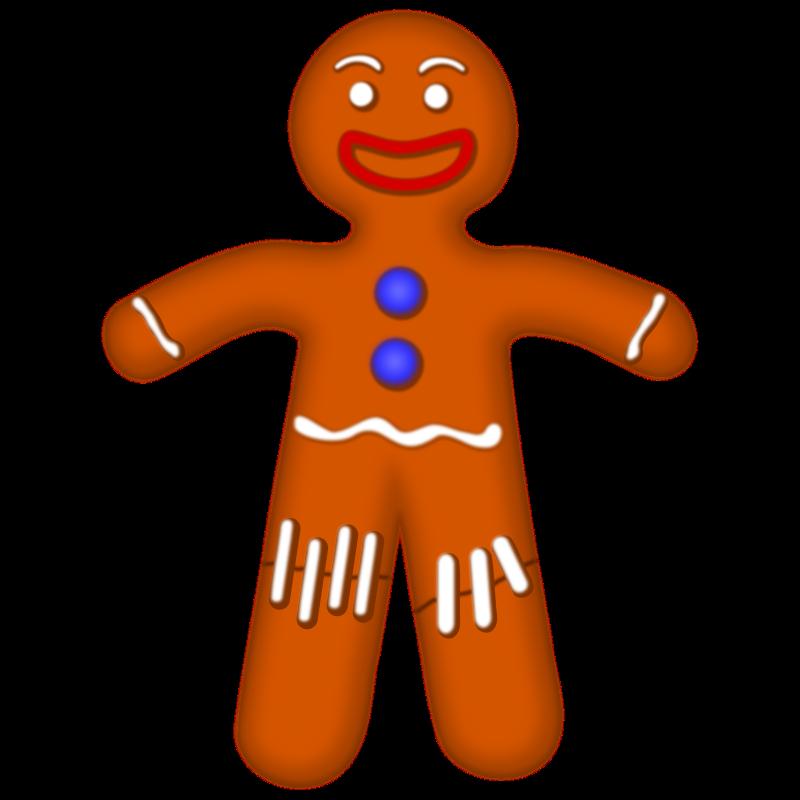 800x800 Gingerbread Man Clipart