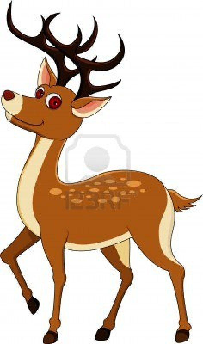 708x1200 Cute Deer Cartoon Stock Photo Christmas Deer