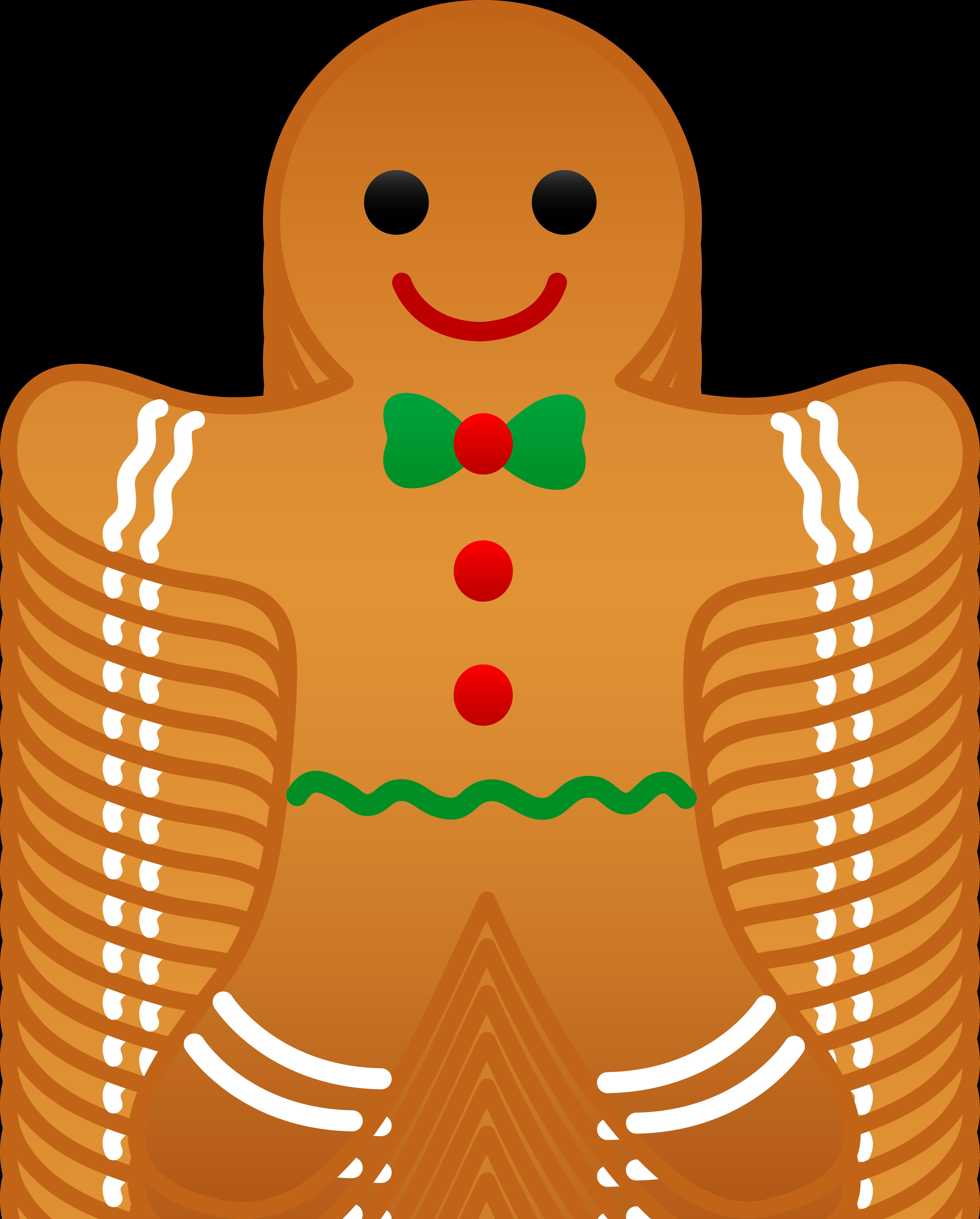 5233x6509 Christmas Gingerbread Man Clip Art Cards