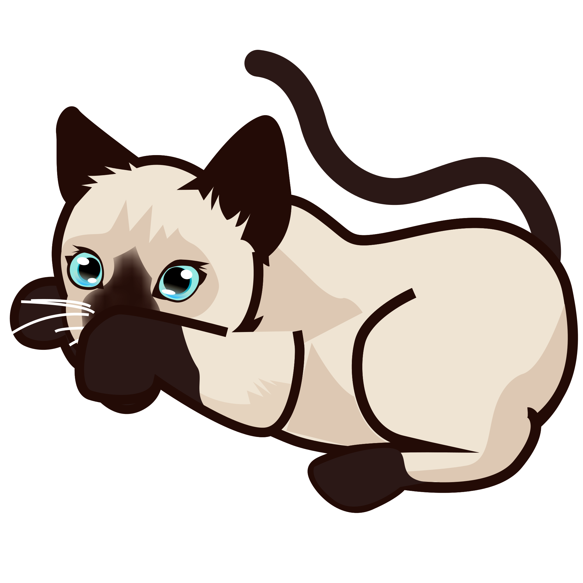 2000x2000 Filepeo Siamese Kitten 5.svg