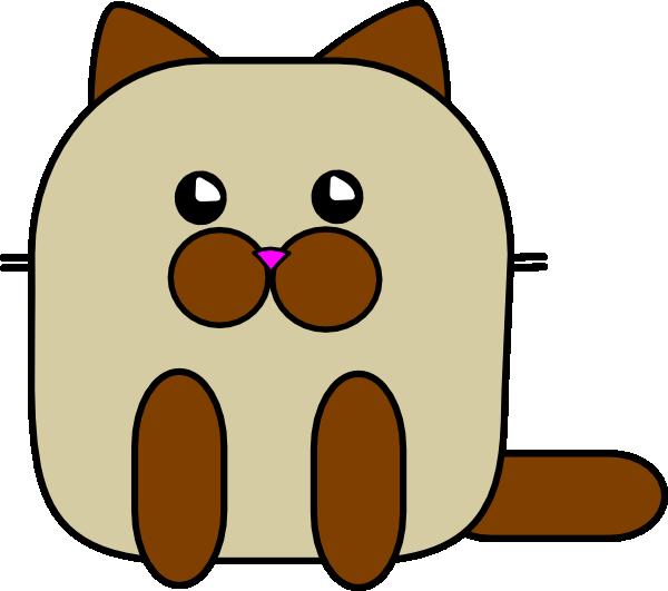 600x531 Siamese Kitty Clip Art