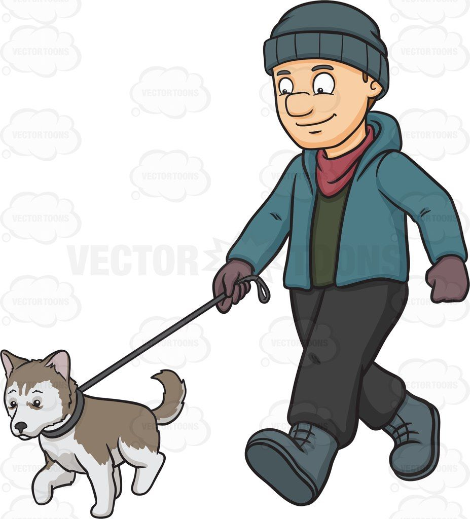 927x1024 A Man Walking His Siberian Husky Puppy Husky Puppy