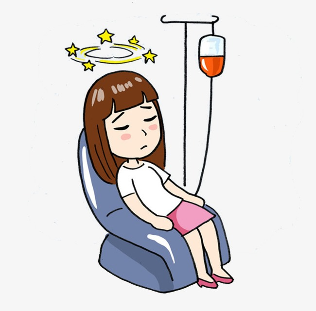 650x640 Infusion Sick People, Sick, Cartoon Characters, Female Png Image