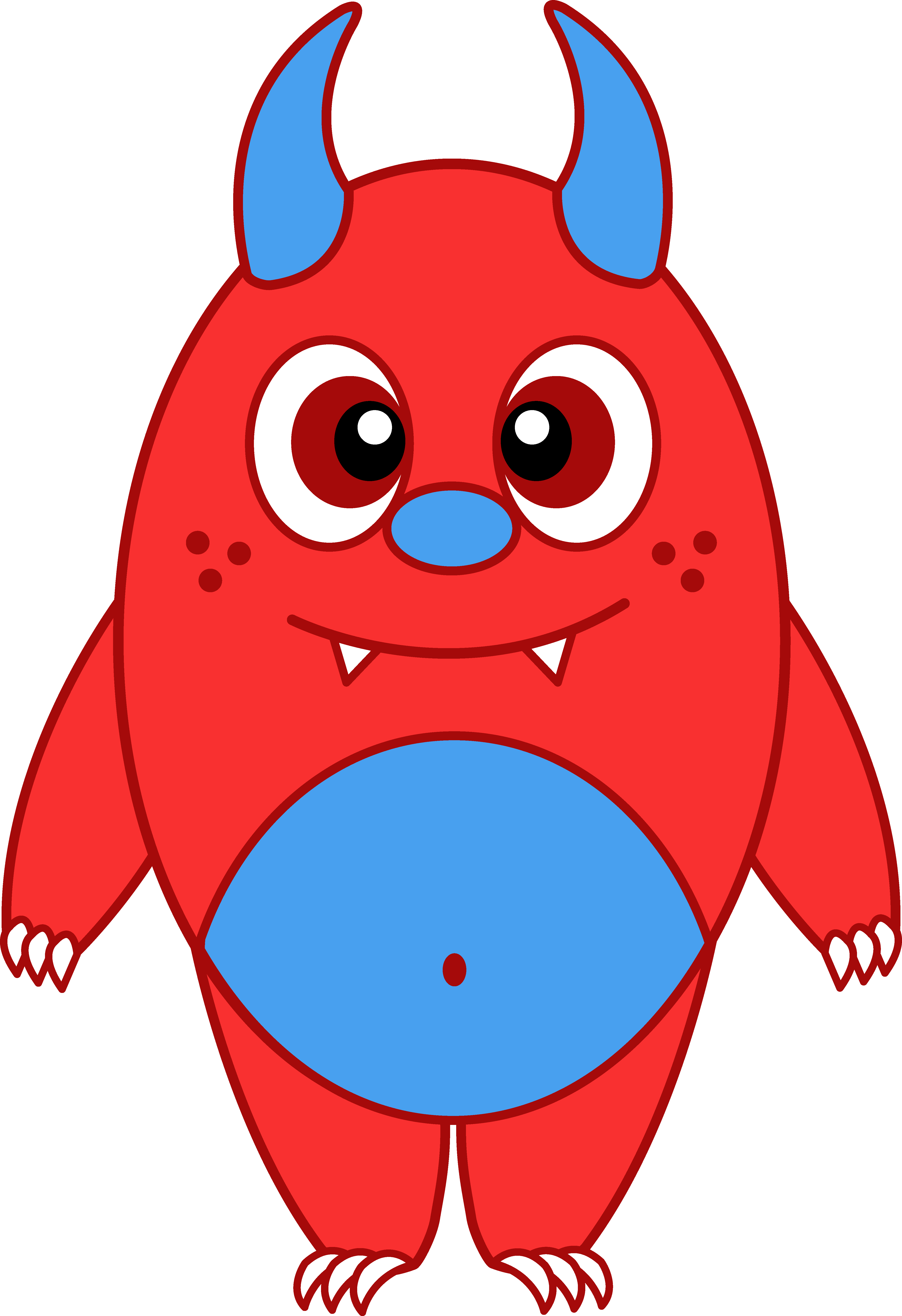 4611x6729 Silly Little Red Monster