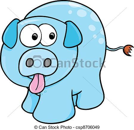 450x439 Silly Farm Pig Vector Illustration Art Eps Vectors