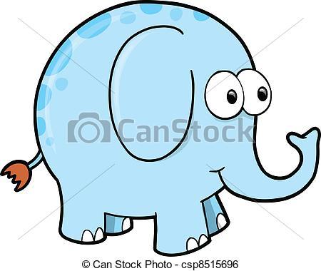 450x380 Silly Goofy Elephant Animal Vector Clip Art Vector