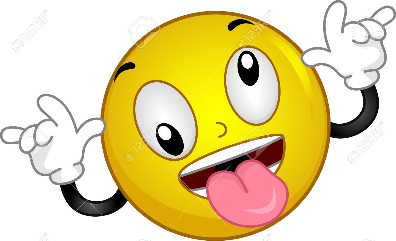 1300x793 Crazy Smiley Face Clip Art 13131946 Illustration Of A Smiley
