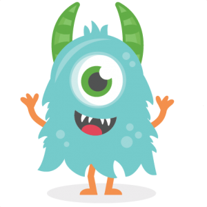 300x300 Clip Art Silly Monsters With Balloons Clipart