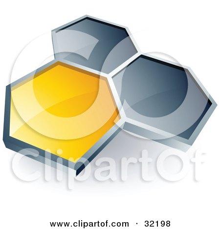 450x470 Royalty Free Vector Clip Art Illustration Of A Green Honeycomb