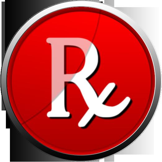 522x522 Rx Pharmacy Symbol Italized Clipart Image