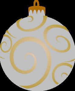 246x299 Silver Decorative Ornament Clip Art