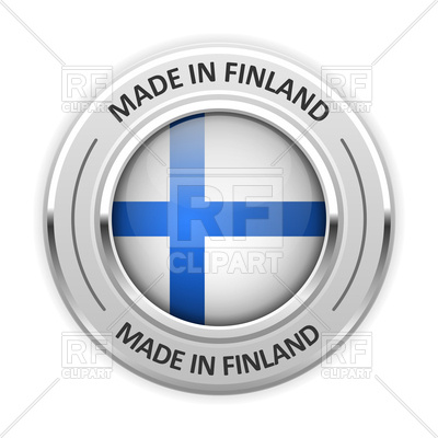 400x400 Silver Medal With Flag Of Finland Icon Made In Finland Royalty