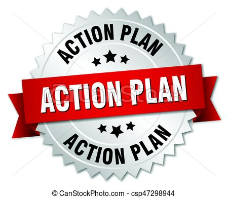 450x391 Action Plan Round Isolated Silver Badge Eps Vector