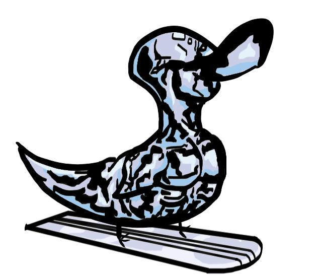 630x550 Silver Surfer Duck By Sicksikmans