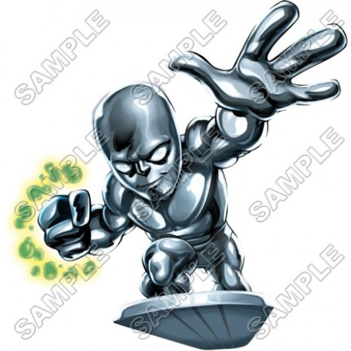 500x500 Super Hero Squad Silver Surfer T Shirt Iron On Transfer Decal